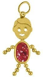 14K Yellow Gold Face Boy Charm Large
