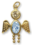 14K Angel Boy Charm