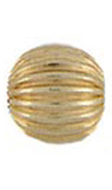 Corrugated Gold Bead 4MM