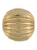 Corrugated Gold Bead 5MM