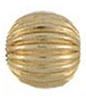 14K 4mm Corrugated Gold Ball Spacer