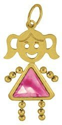 14K  Yellow Gold Face Girl Charm