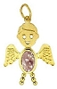 June Angel Gold Face Boy Charm