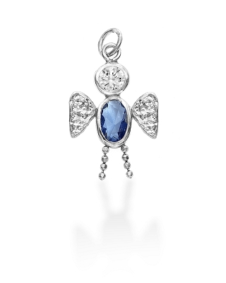 Sterling Silver Angel Boy Charm March