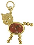 January  Birthstone Cat Charm