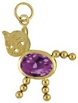 February  Birthstone Cat Charm