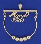14K Gold Mom's Kids Charm Holder