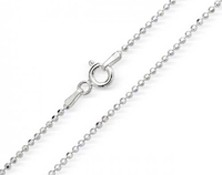 Sterling Sliver Bead Chain 16""