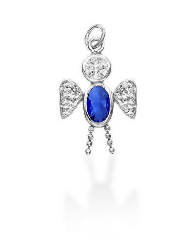 Sterling Silver Angel Boy Charm September
